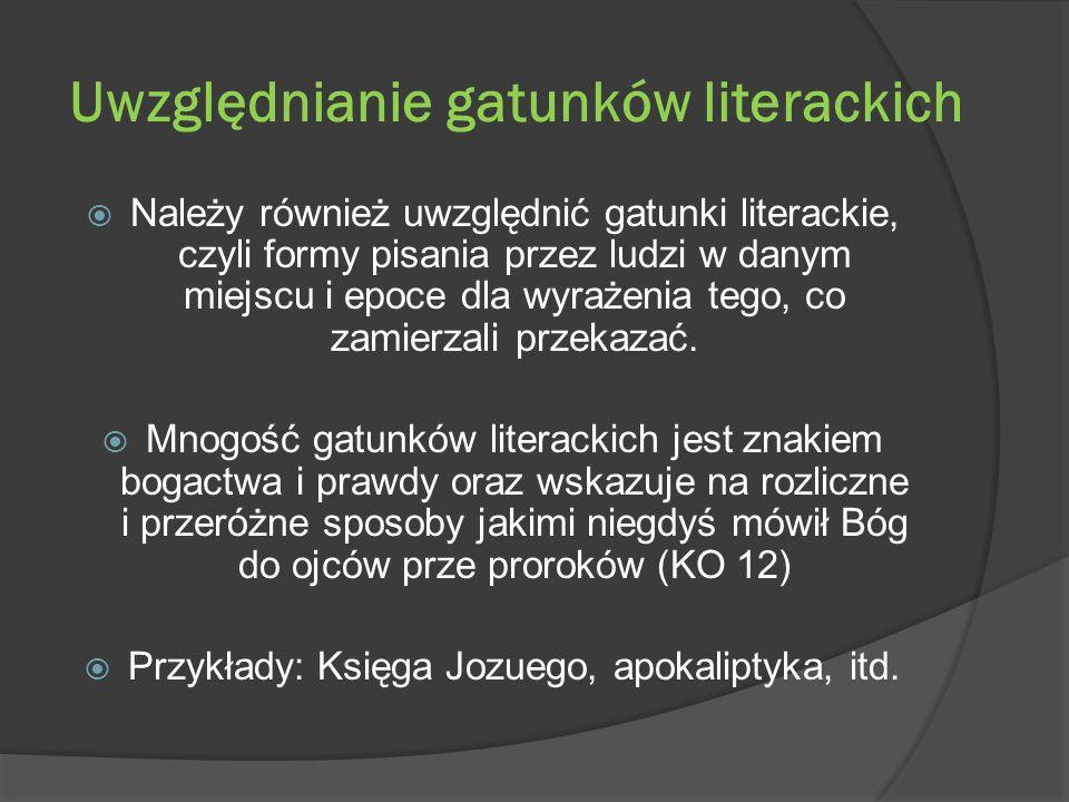 Uwzględnianie gatunków literackich