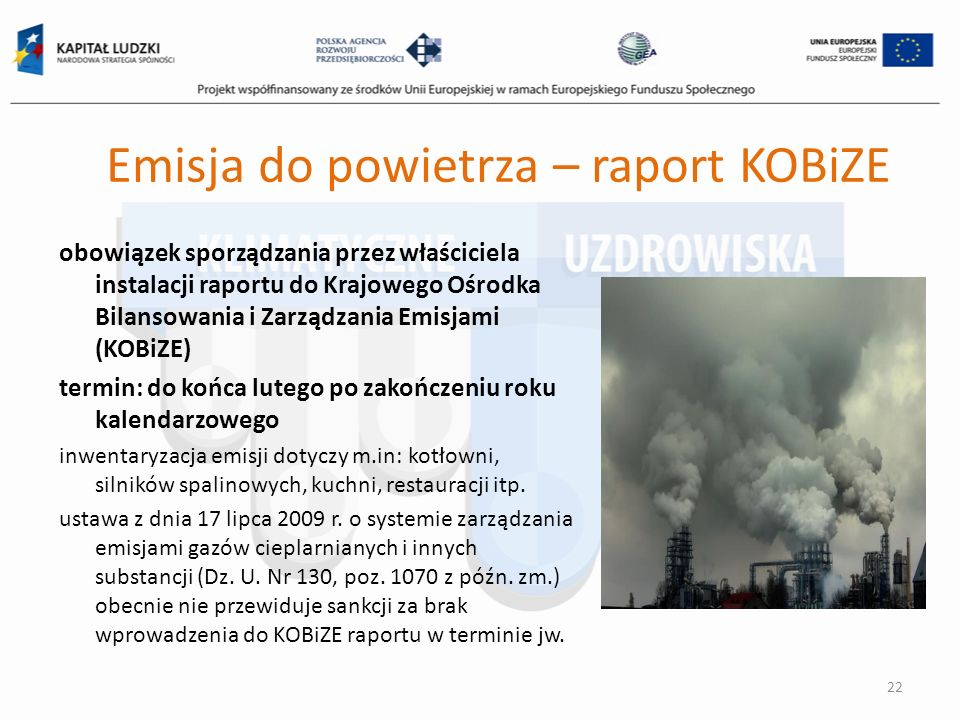 Emisja do powietrza – raport KOBiZE