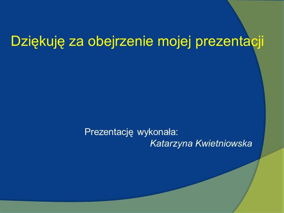 Dziękuję za obejrzenie mojej prezentacji