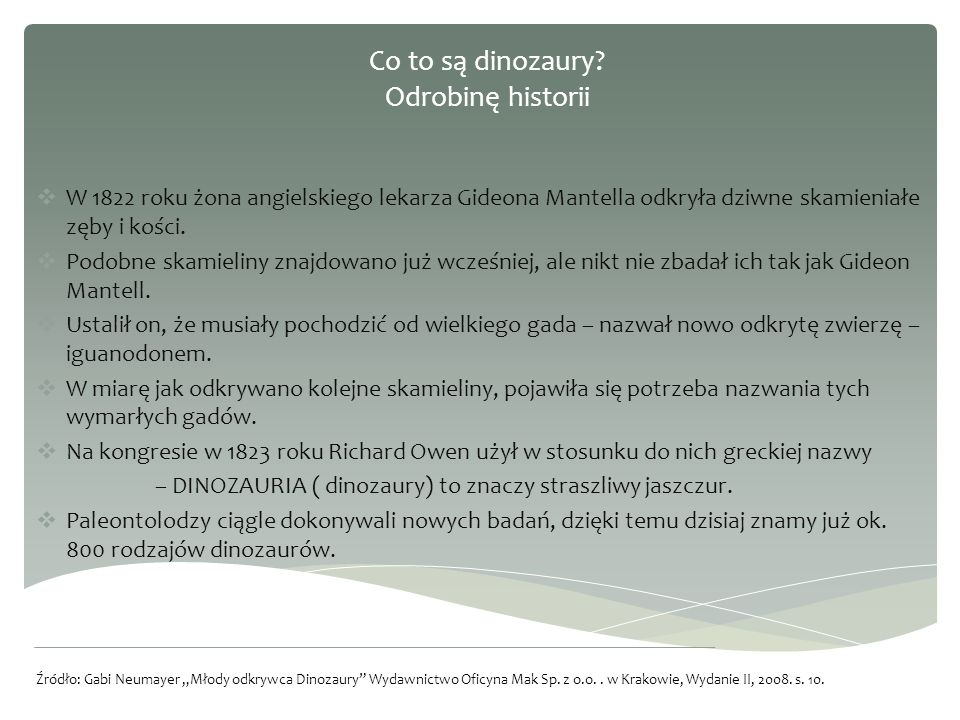 Co to są dinozaury Odrobinę historii