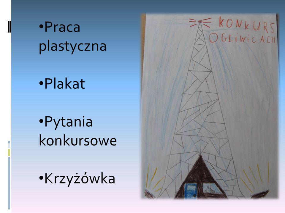 Praca plastyczna Plakat Pytania konkursowe Krzyżówka