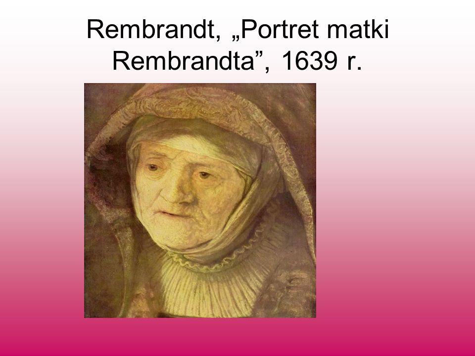 "Rembrandt, ""Portret matki Rembrandta , 1639 r."