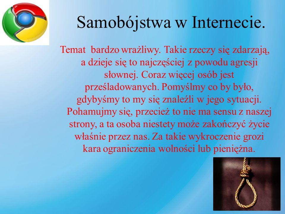 Samobójstwa w Internecie.