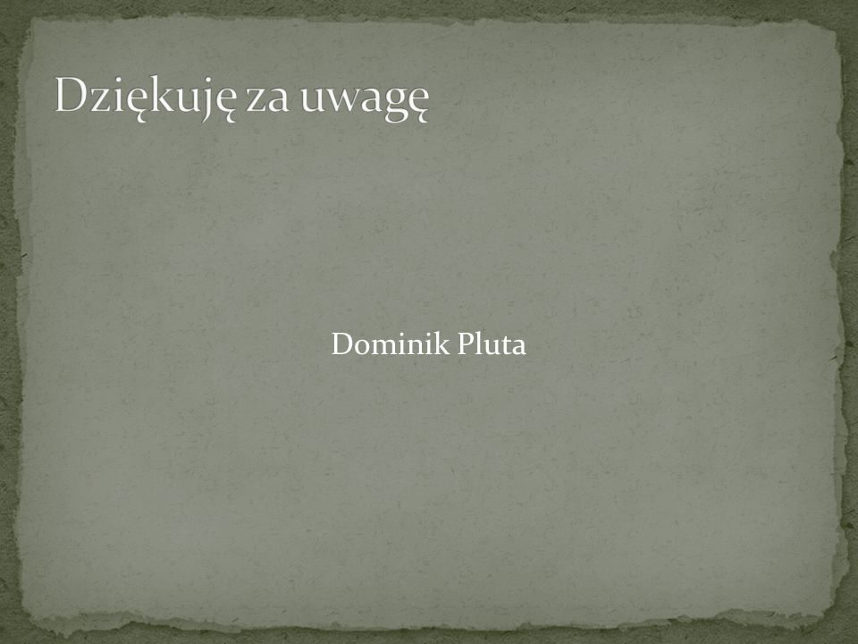Dziękuję za uwagę Dominik Pluta