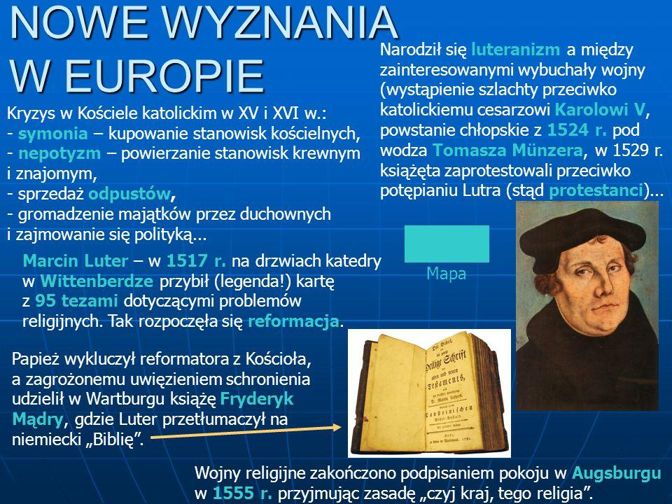 NOWE WYZNANIA W EUROPIE