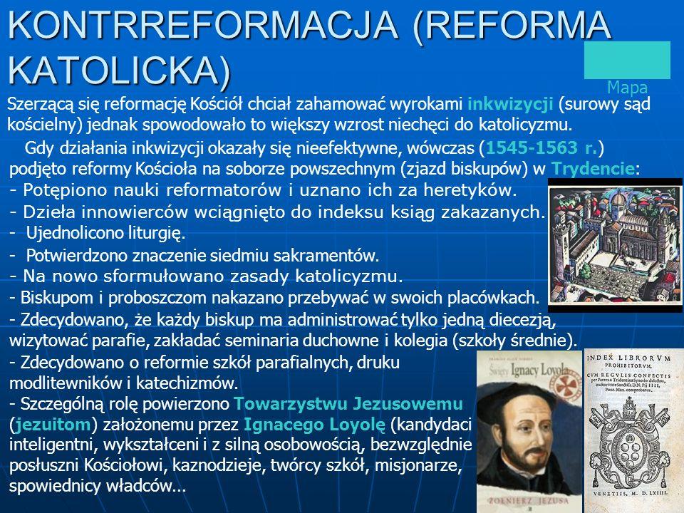 KONTRREFORMACJA (REFORMA KATOLICKA)