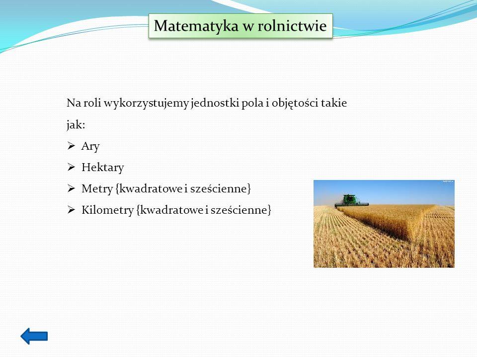 Matematyka w rolnictwie