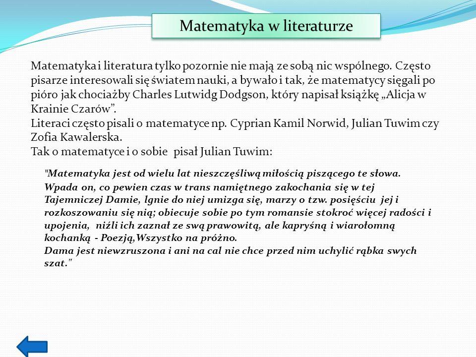 Matematyka w literaturze