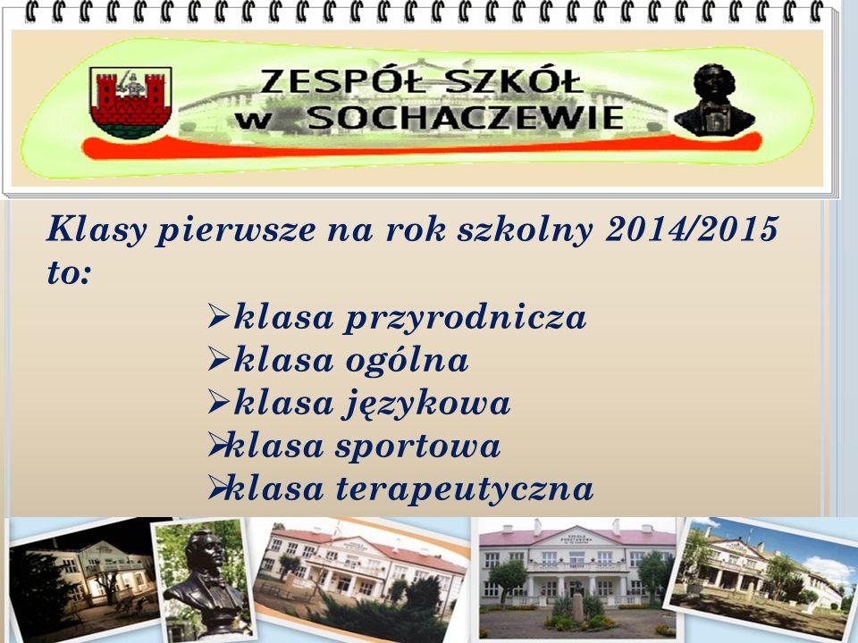 Klasy pierwsze na rok szkolny 2014/2015