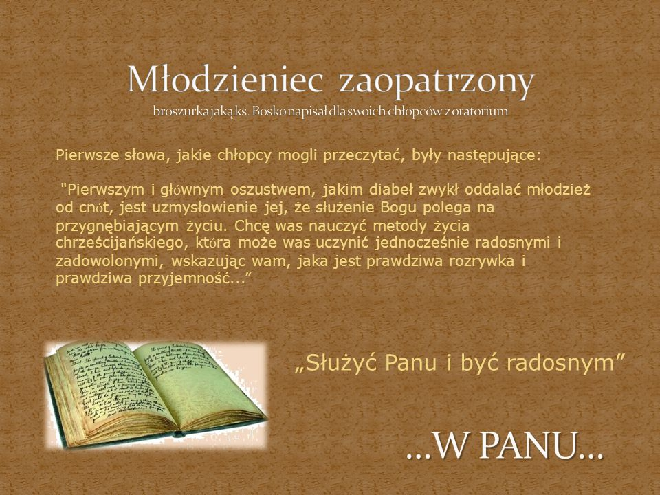 Młodzieniec zaopatrzony broszurka jaką ks
