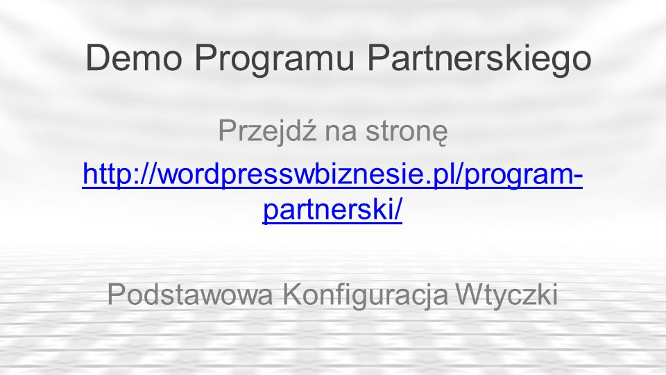 Demo Programu Partnerskiego