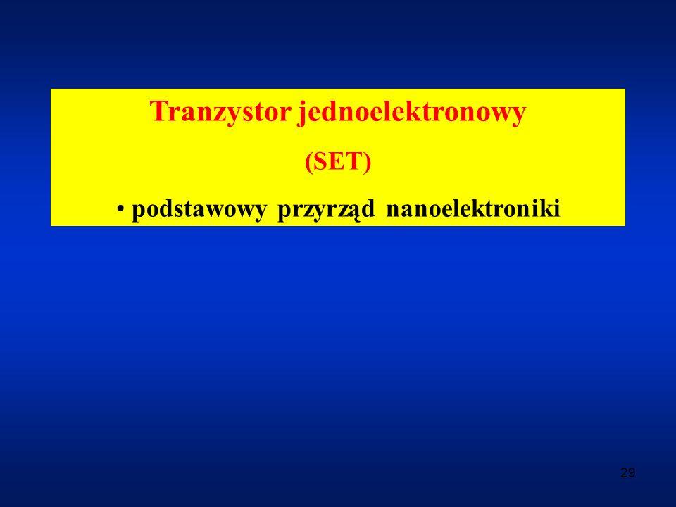 Tranzystor jednoelektronowy podstawowy przyrząd nanoelektroniki