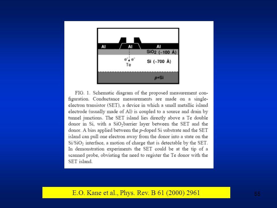 E.O. Kane et al., Phys. Rev. B 61 (2000) 2961