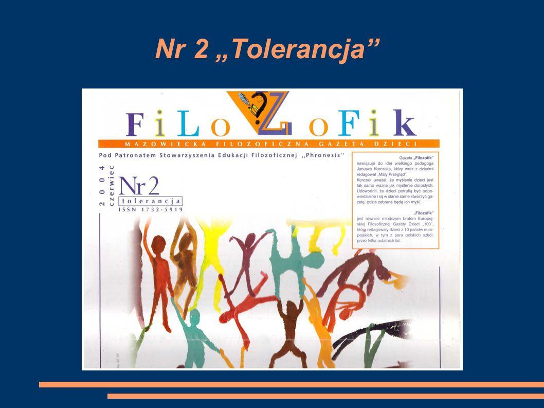 """Nr 2 """"Tolerancja"""