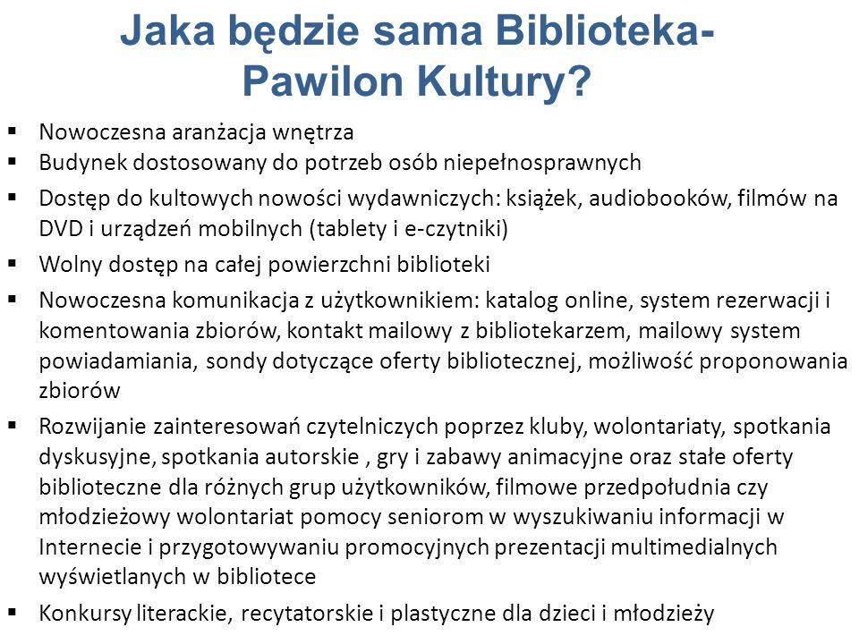 Jaka będzie sama Biblioteka- Pawilon Kultury