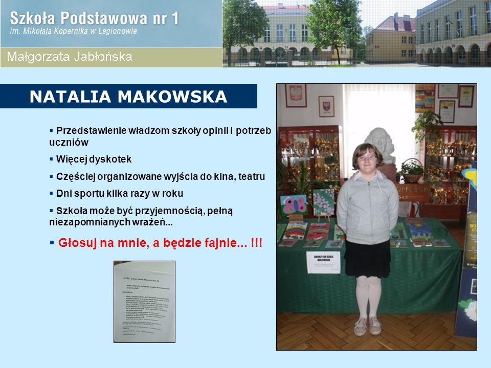 NATALIA MAKOWSKA Głosuj na mnie, a będzie fajnie... !!!