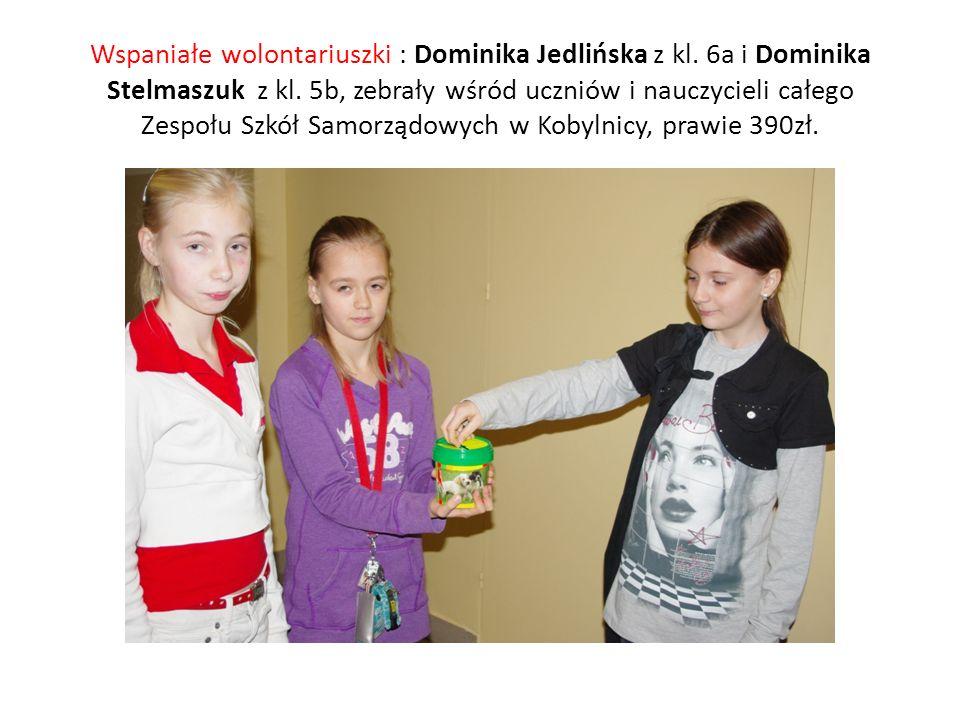 Wspaniałe wolontariuszki : Dominika Jedlińska z kl