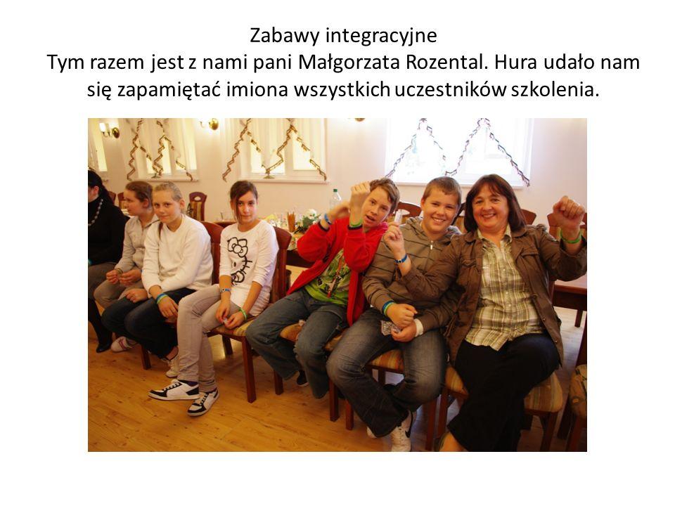 Zabawy integracyjne Tym razem jest z nami pani Małgorzata Rozental