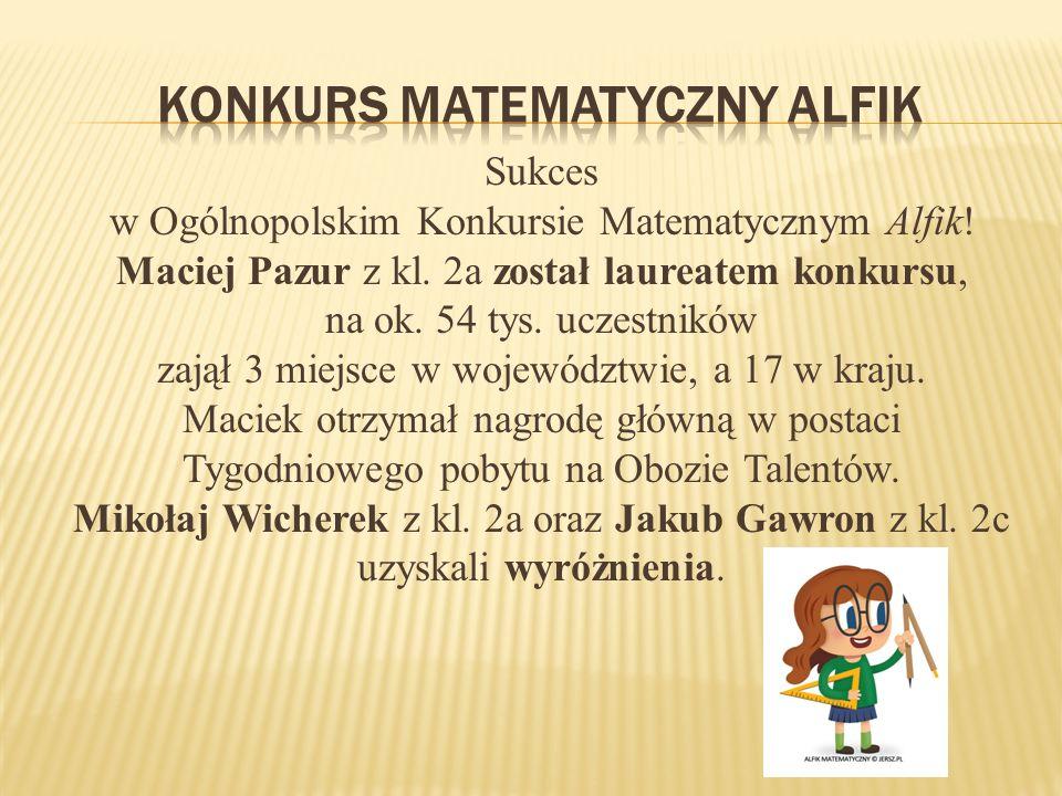 Konkurs matematyczny alfik