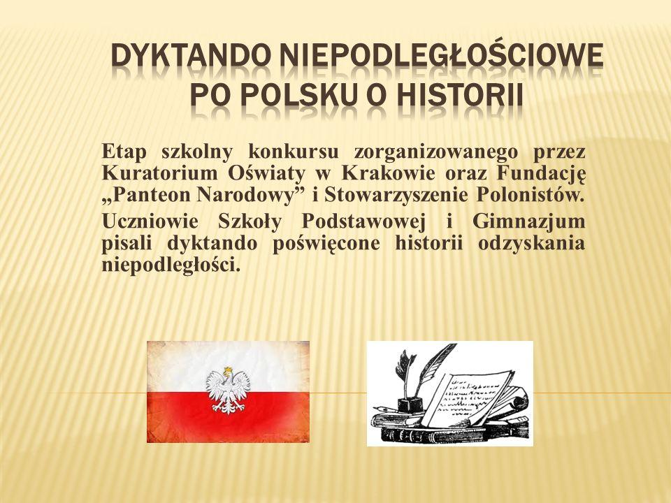 Dyktando Niepodległościowe Po polsku o historii