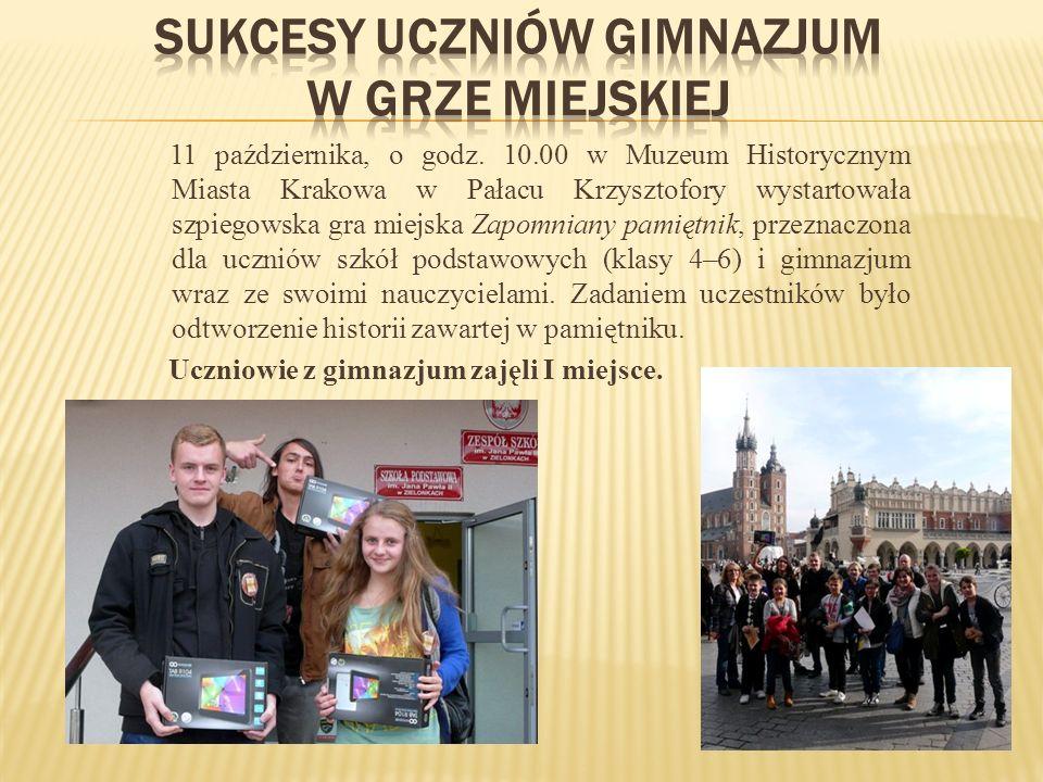 SUKCESY uczniów gimnazjum w grze miejskiej