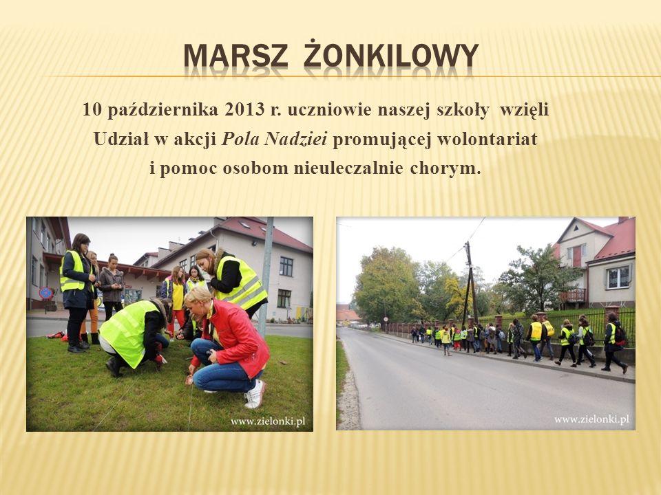 Marsz żonkilowy 10 października 2013 r. uczniowie naszej szkoły wzięli