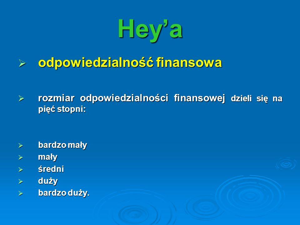 Hey'a odpowiedzialność finansowa