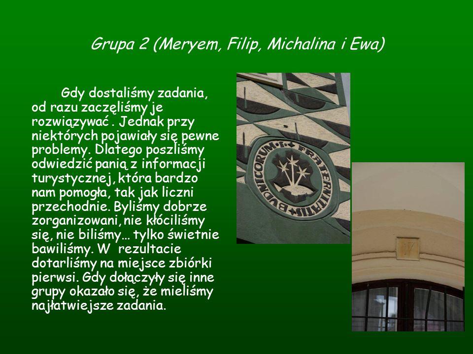 Grupa 2 (Meryem, Filip, Michalina i Ewa)
