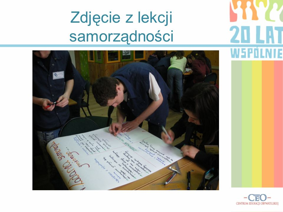 Zdjęcie z lekcji samorządności