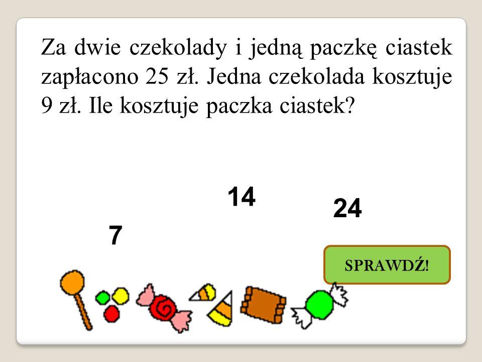 Za dwie czekolady i jedną paczkę ciastek zapłacono 25 zł