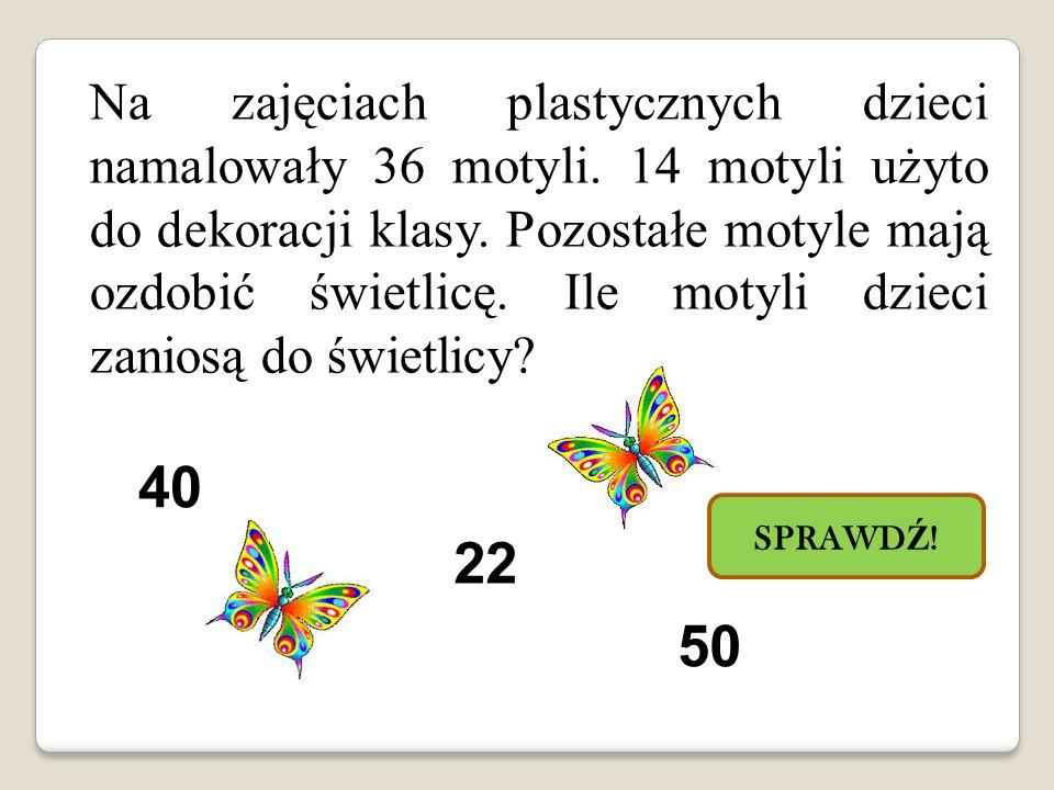 Na zajęciach plastycznych dzieci namalowały 36 motyli