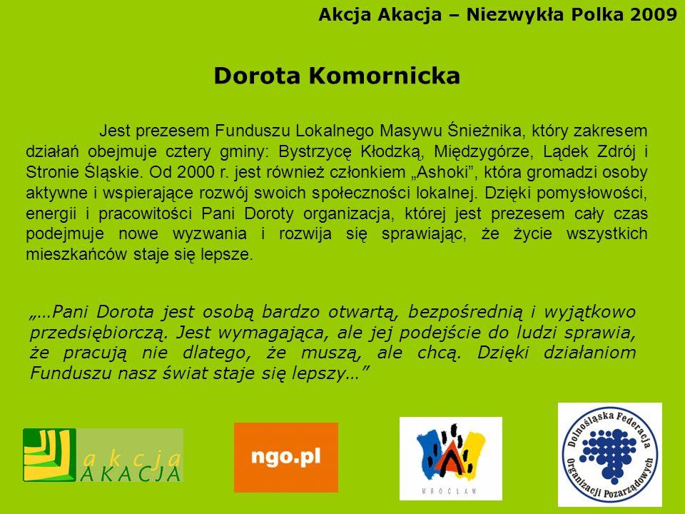 Dorota Komornicka Akcja Akacja – Niezwykła Polka 2009