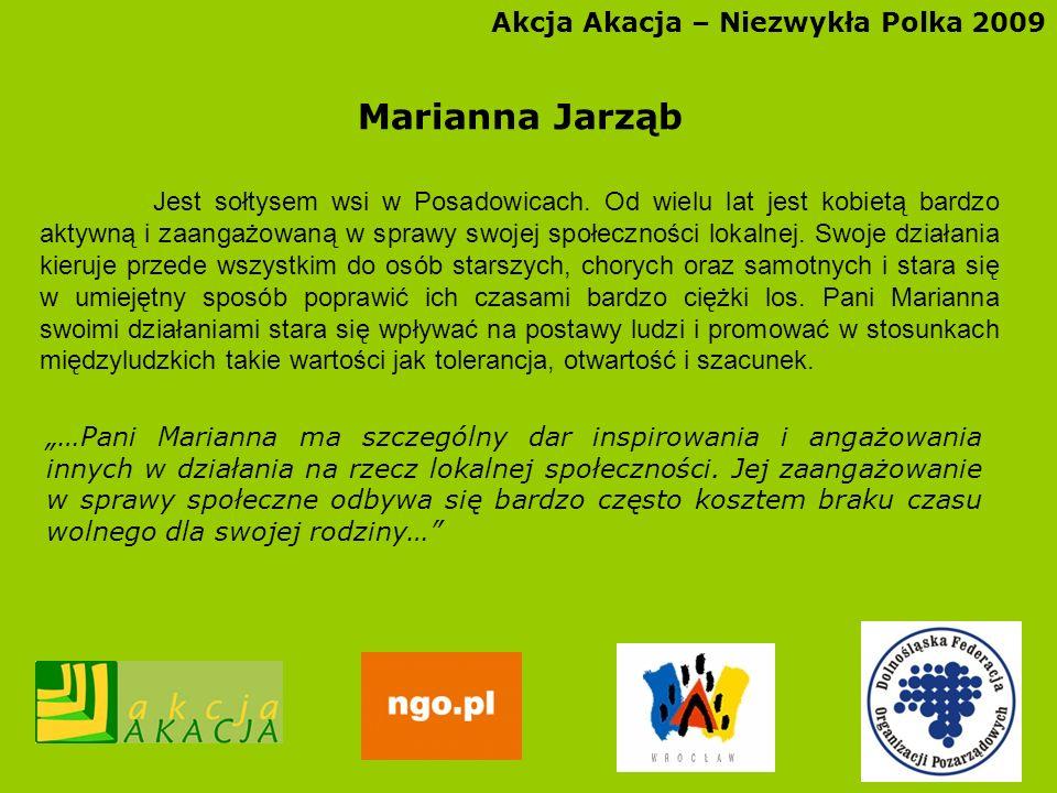 Marianna Jarząb Akcja Akacja – Niezwykła Polka 2009