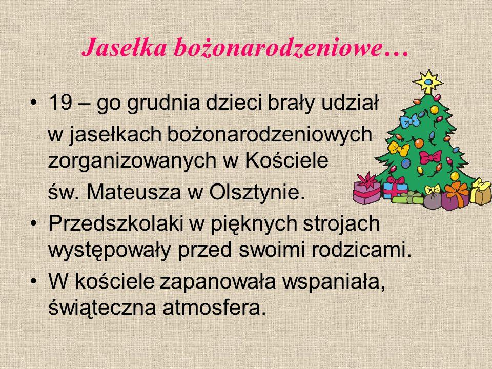 Jasełka bożonarodzeniowe…