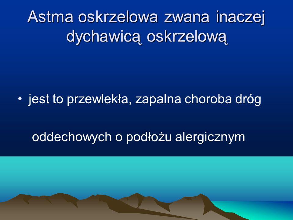 Astma oskrzelowa zwana inaczej dychawicą oskrzelową
