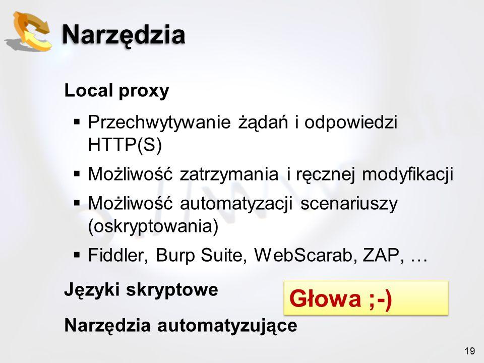 Narzędzia Głowa ;-) Local proxy