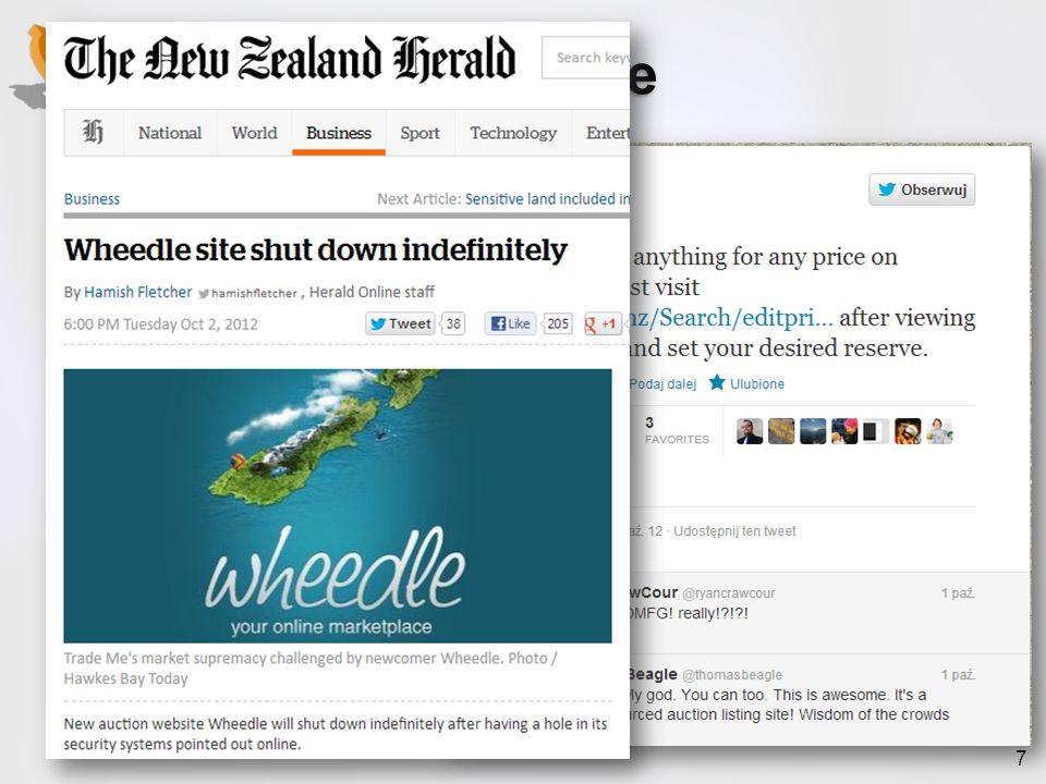 Przykład - Wheedle październik 2012 Nowy serwis aukcyjny