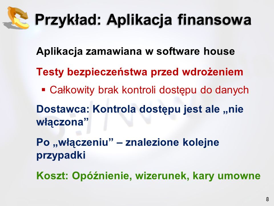 Przykład: Aplikacja finansowa