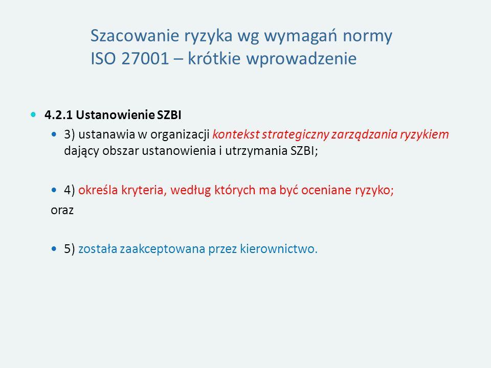Szacowanie ryzyka wg wymagań normy ISO 27001 – krótkie wprowadzenie