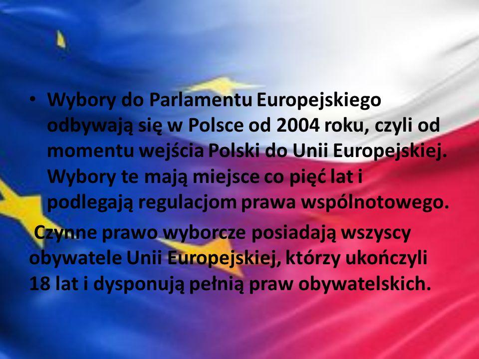 Wybory do Parlamentu Europejskiego odbywają się w Polsce od 2004 roku, czyli od momentu wejścia Polski do Unii Europejskiej. Wybory te mają miejsce co pięć lat i podlegają regulacjom prawa wspólnotowego.