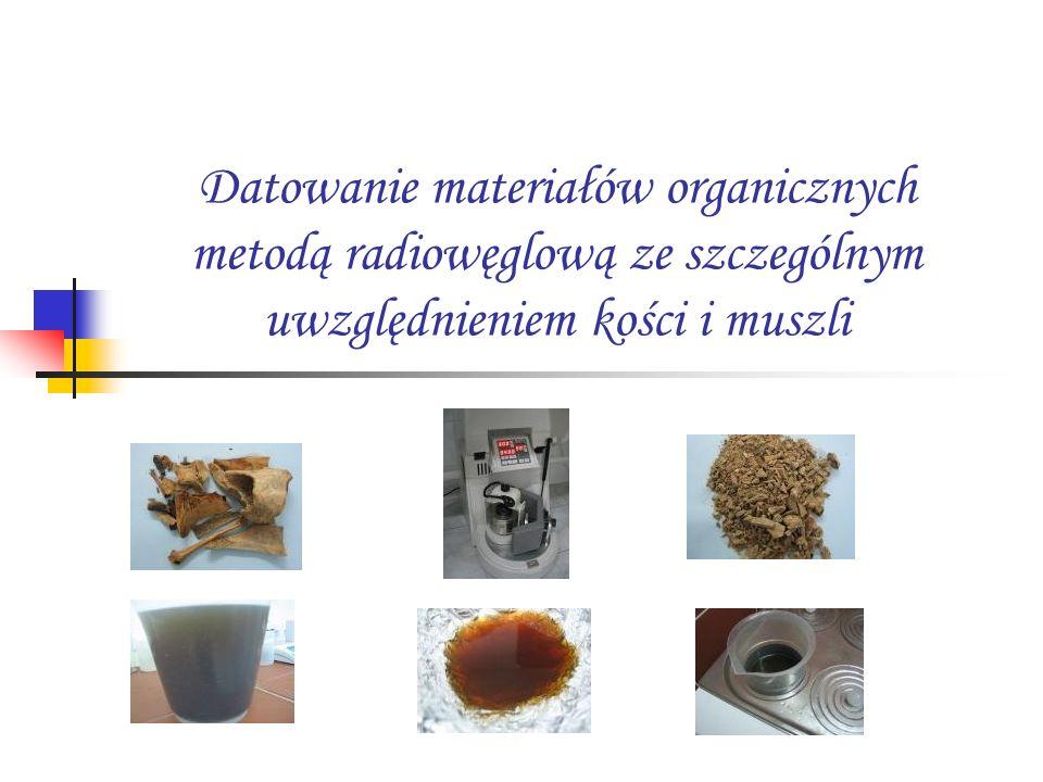 Datowanie materiałów organicznych metodą radiowęglową ze szczególnym uwzględnieniem kości i muszli