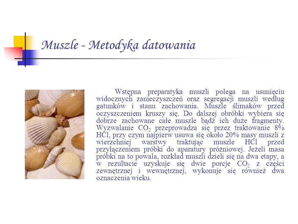 Muszle - Metodyka datowania