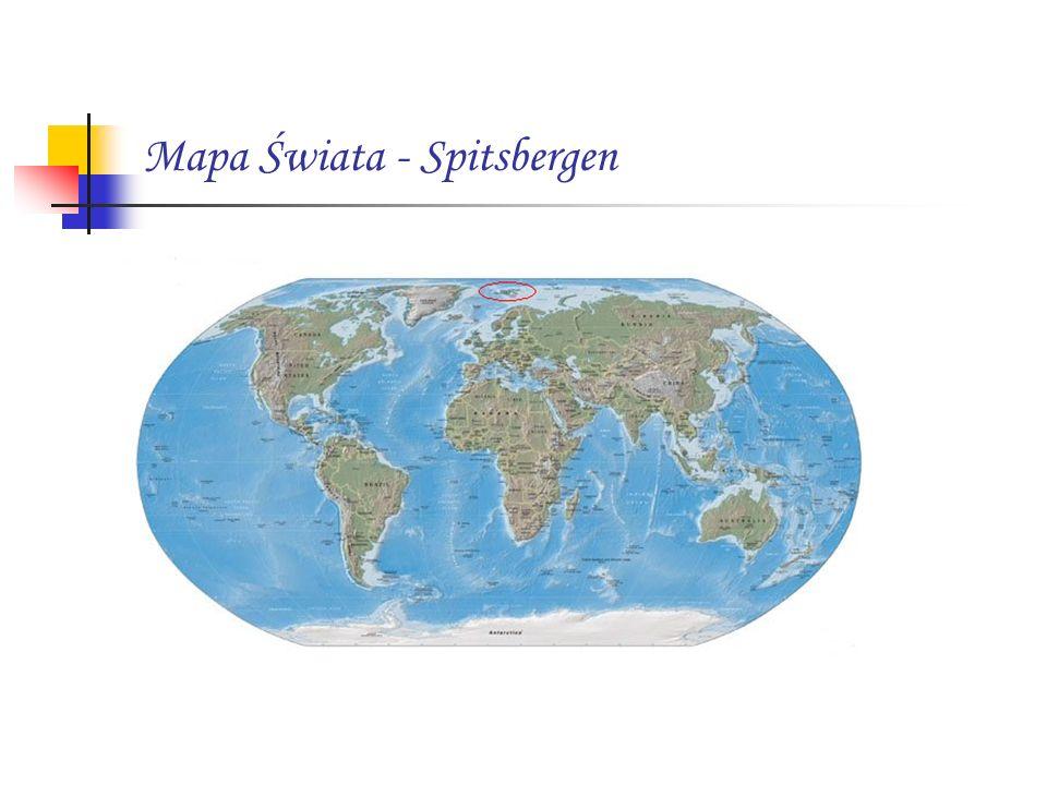 Mapa Świata - Spitsbergen