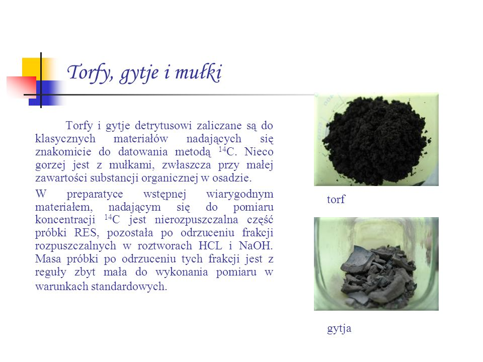 Torfy, gytje i mułki