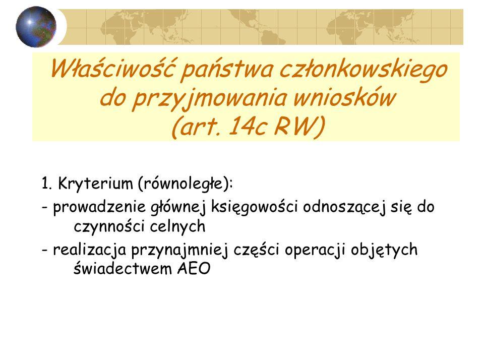 Właściwość państwa członkowskiego do przyjmowania wniosków (art