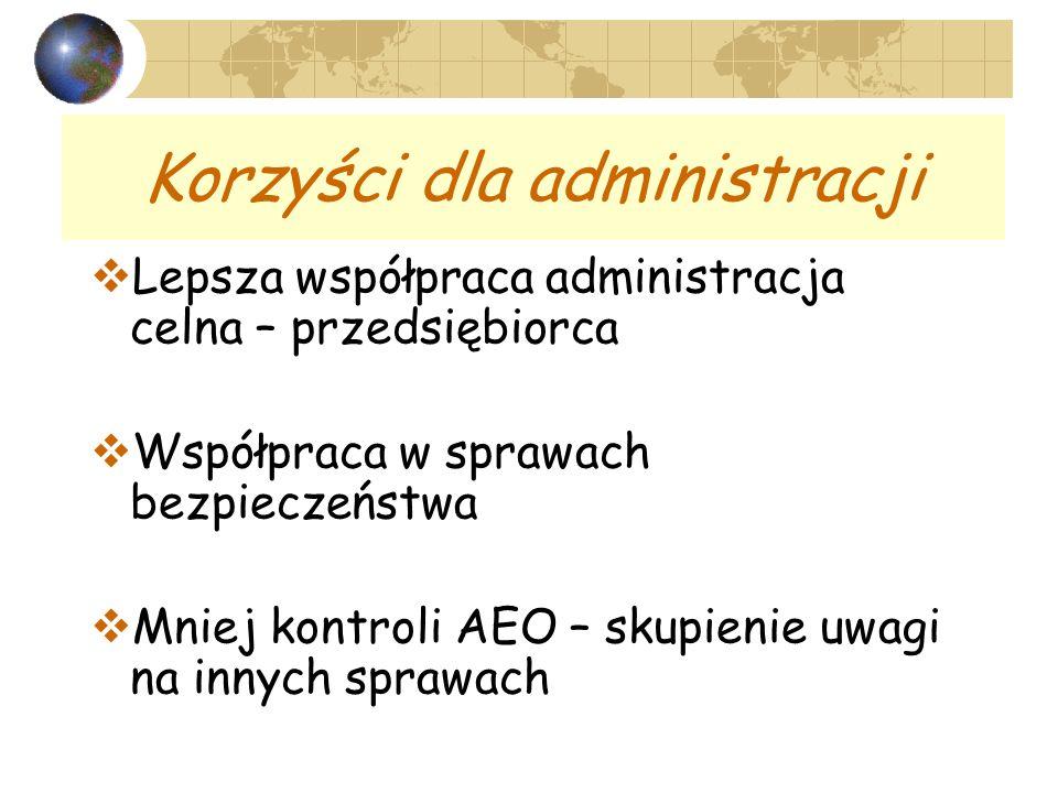 Korzyści dla administracji