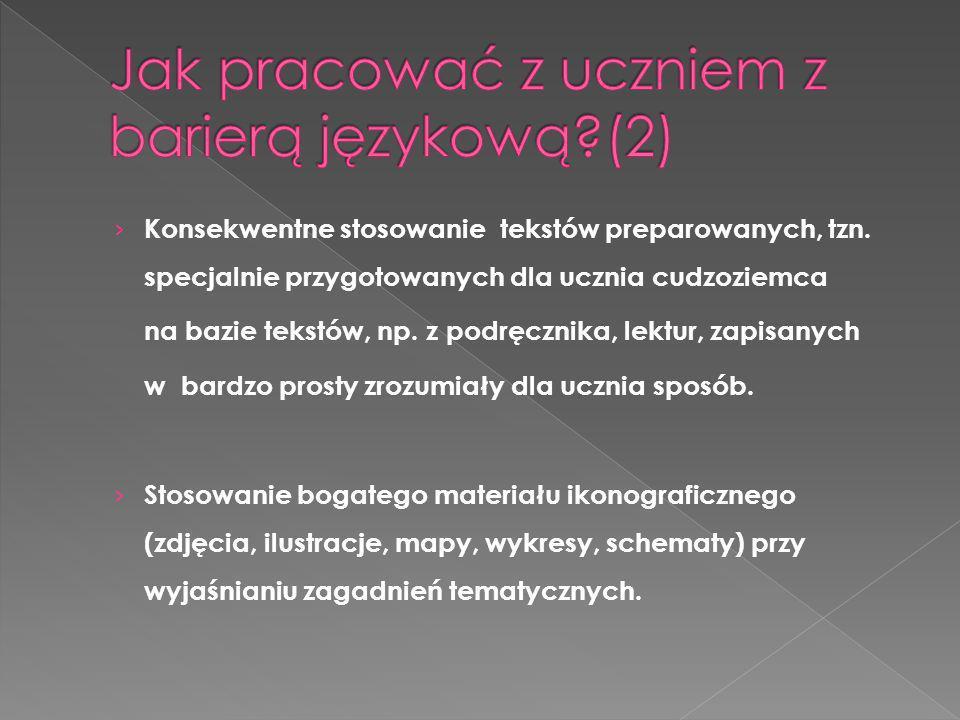 Jak pracować z uczniem z barierą językową (2)