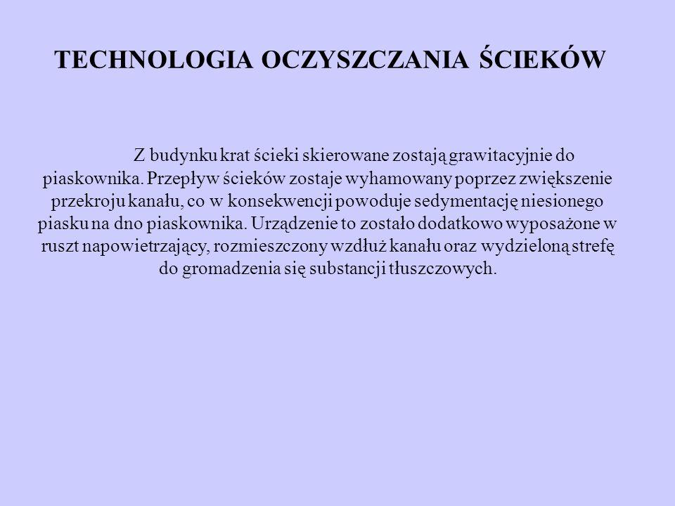 TECHNOLOGIA OCZYSZCZANIA ŚCIEKÓW