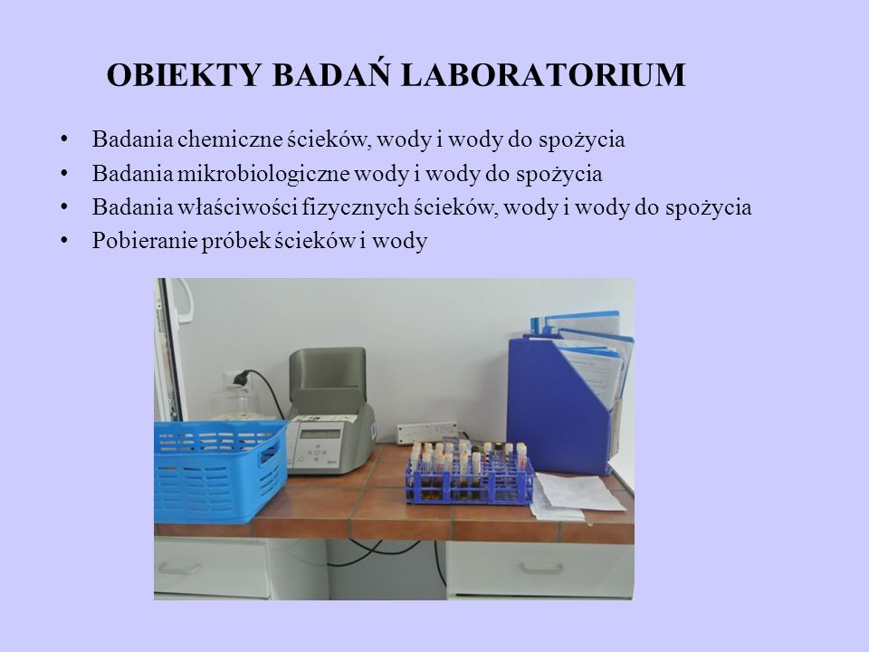 OBIEKTY BADAŃ LABORATORIUM
