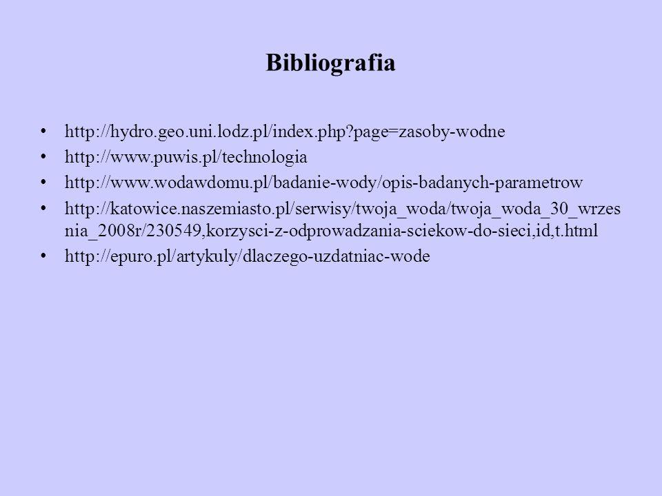 Bibliografia http://hydro.geo.uni.lodz.pl/index.php page=zasoby-wodne